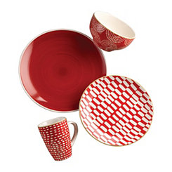 Simpatico Red 16-pc. Dinnerware Set
