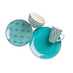 Simpatico Turquoise 16-pc. Dinnerware Set