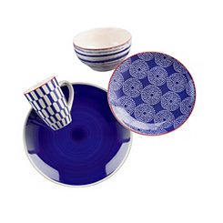 Simpatico Blue 16-pc. Dinnerware Set