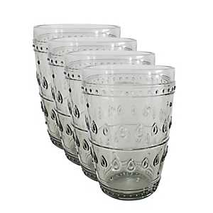 Fez Gray Highball Glasses, Set of 4