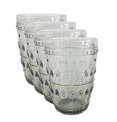 Fez Gray Highball Glasses, Set of 4