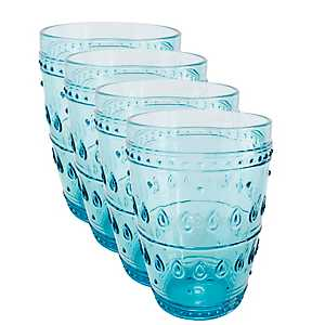 Fez Turquoise Highball Glasses, Set of 4
