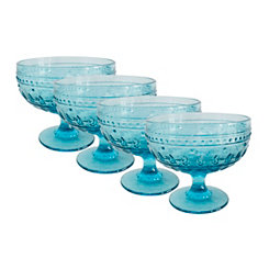 Fez Turquoise Compote Bowls, Set of 4