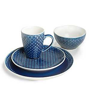 Palma Blue Diamond 16-pc. Dinnerware Set