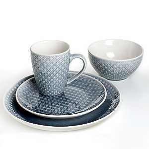 Palma Gray Diamond 16-pc. Dinnerware Set