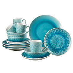 Turquoise Peacock 16-pc. Dinnerware Set