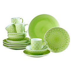Green Peacock 16-pc. Dinnerware Set