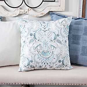 Blue and Gray Moonstone Pillow