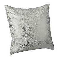 Gold Persian Floral Print Pillow