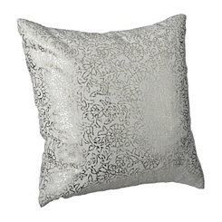 Gold Persian Floral Print Pillow