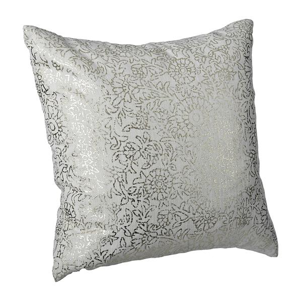gold persian floral print pillow - Toss Pillows
