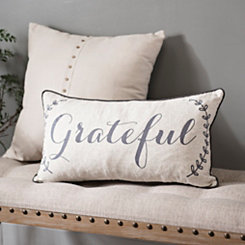 Grateful Feather-Filled Accent Pillow