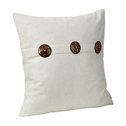Ivory Buttoned Pillow