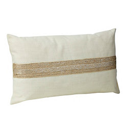 Metallic Jute Accent Pillow