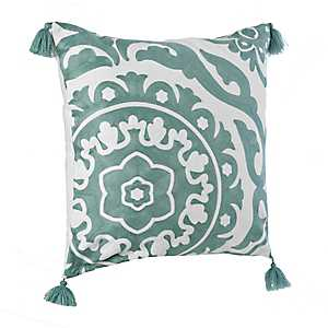 Blue Suzani Embroidered Pillow