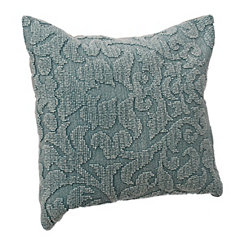 Aqua Scroll Pillow