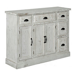 Distressed Whitewashed Cabinet