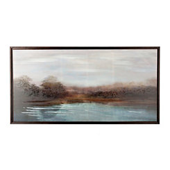 By the River Framed Canvas Art Print