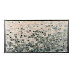 Abstract Grids Framed Canvas Art Print