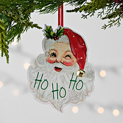 Vintage Santa Clause Ho Ho Ho Ornament