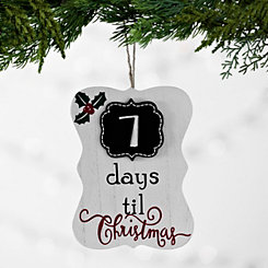 Christmas Countdown Chalkboard Ornament