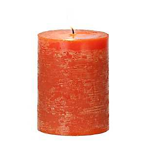 Orange Spice Unscented Pillar Candle, 4 in.