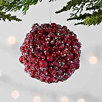 Icy Berry Ball Christmas Ornament