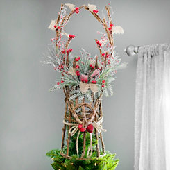 Stag Head Rattan Tree Topper