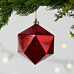 Red Foil Finish Geometric Ornament