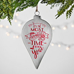 Most Wonderful Time Galvanized Edge Ornament