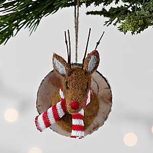 Reindeer Head Felt Ornament