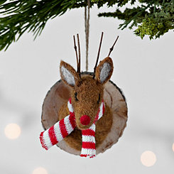 Reindeer Head Felt Ornament