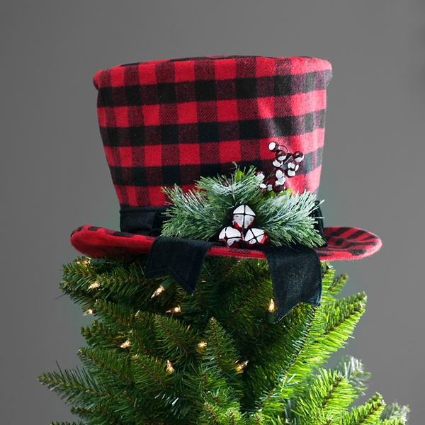 ... Buffalo Check Top Hat Tree Topper ...