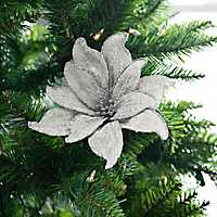 Silver Linen Poinsettia