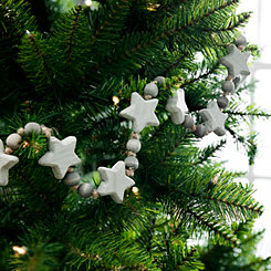 Gray and White Star Bead Garland