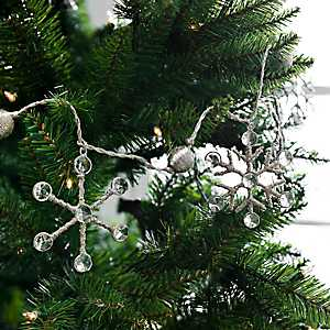 Jeweled Snowflake Metallic Thread Garland