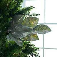 Metallic Magnolia Leaf Spray