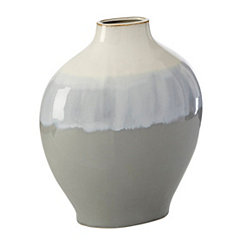 Gray and Blue Glaze Barrett Vase