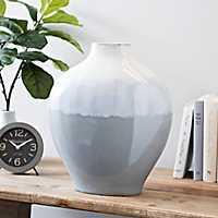 Gray and Blue Glaze Barrett Vase