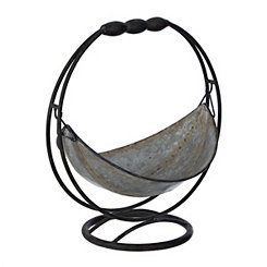 Swinging Galvanized Metal Bowl
