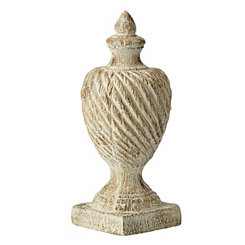 Large Distressed Swirl Finial