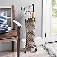 Rustic Olive Metal Umbrella Stand