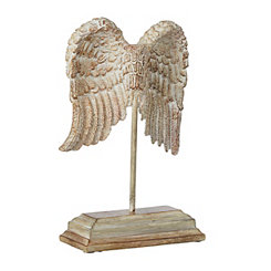 Distressed Angel Wings Finial