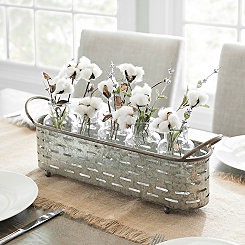 Galvanized Vented Vase Runner Set