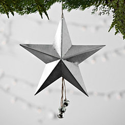 Galvanized Metal Star With Jingle Bells
