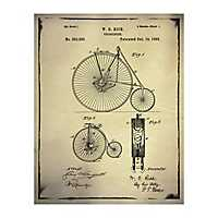Bicycle Patent I Canvas Art Print