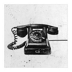 Black Phone Canvas Art Print