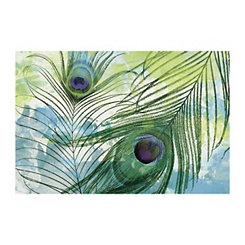 Soft Peacock Canvas Art Print
