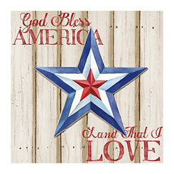 God Bless America Canvas Art Print