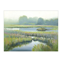 Morning At Edmonds Marsh Canvas Art Print